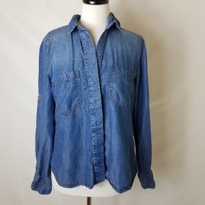 Cloth And Stone Long  Denim Button Up